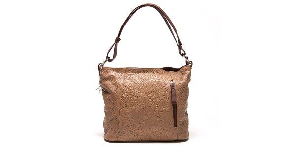 Dámská kožená kabelka s reliéfním vzorem Renata Corsi