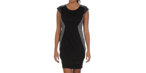 Dámské černé šaty s černými prvky Vila Clothes