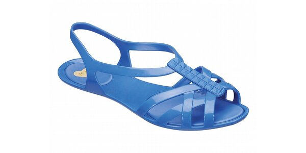 Dámské zářivě modré sandály Mel s pyramidkami