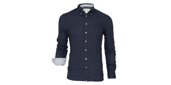 Pánská tmavě modrá košile Paul Stragas