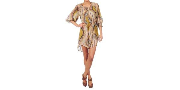 Dámské béžové šaty Nolita s indiánským vzorem