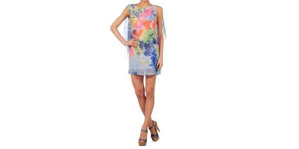Dámské bleděmodré šaty Nolita s květinovým vzorem