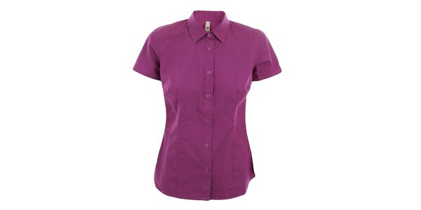 Dámská fuchsiová slim košile s krátkým rukávem Big Star