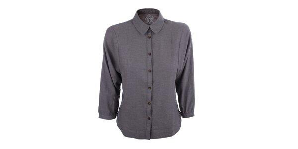 Dámská šedá košile s 3/4 rukávem Big Star