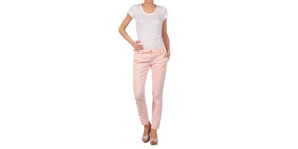 Dámské světle růžové kalhoty Nolita
