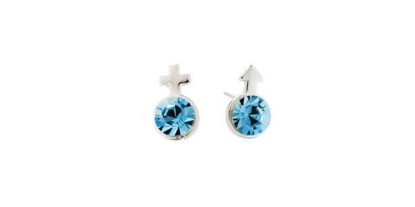 Dámské náušnice s modrými krystaly Fifi Ange