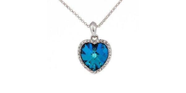 Dámský náhrdelník s modrým srdíčkem Fifi Ange