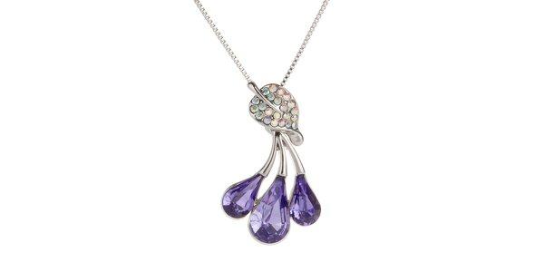 Dámský náhrdelník s fialovými kapkami Fifi Ange
