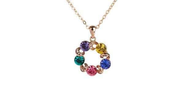 Dámský náhrdelník s barevnými krystaly Fifi Ange
