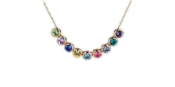 Dámský náhrdelník s barevnými kulatými krystalky Fifi Ange