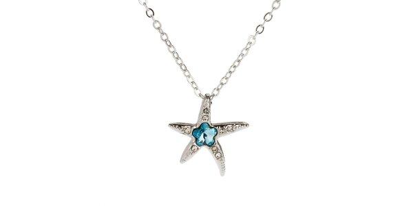 Dámský náhrdelník s hvězdicí a modrým krystalem Fifi Ange