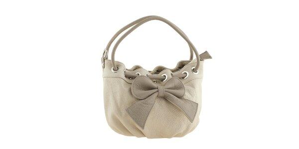 Dámská béžová kabelka s mašlí Valentina Italy