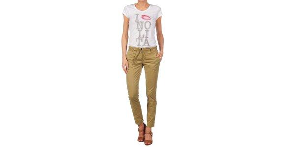 Dámské béžové kalhoty Nolita
