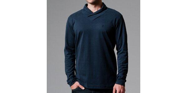 Pánské tmavé tričko s límečkem Pietro Filipi