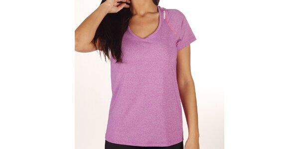 Dámské fialově melírované tričko Reebok