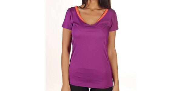 Dámské fialové tričko s oranžovým lemem Reebok