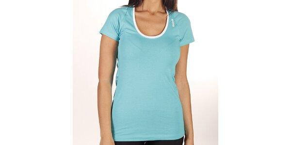 Dámské tyrkysové tričko s kulatým výstřihem Reebok
