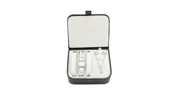 Dárková sada Pierre Cardin - hodinky s náhrdelníkem a náušnicemi