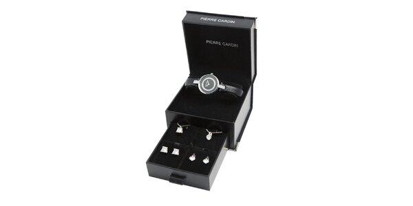Dárková sada Pierre Cardin - hodinky s náhrdelníky a náušnicemi