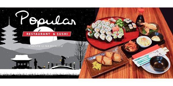 Jakékoli speciality, nápoje i sushi v hodnotě až 1000 Kč