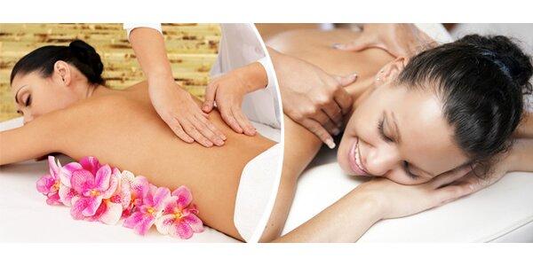 Relaxační masáže dle vašeho výběru