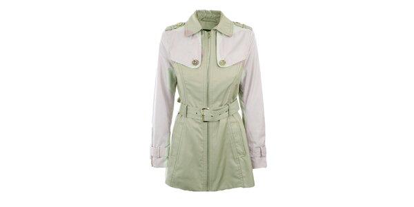 Dámský světlý kabát s páskem Halifax