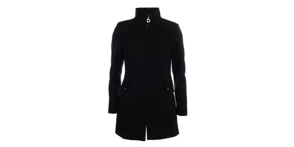 Dámský černý jednoduchý kabát Halifax