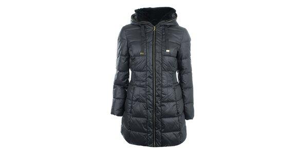 Dámský tmavě šedý prošívaný kabát na zip Halifax