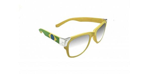 Gumové sluneční brýle Jumper-s v barvách brazilské vlajky
