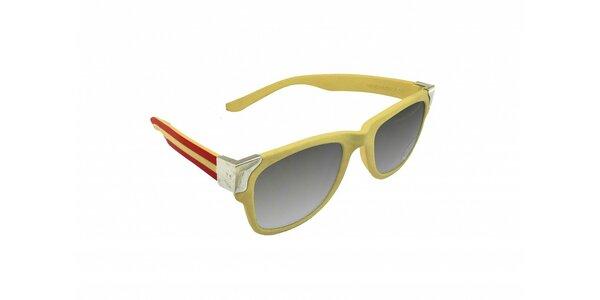 Gumové sluneční brýle Jumper-s v barvách španělské vlajky
