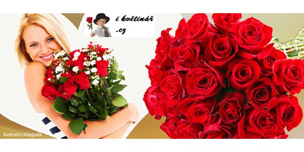 Romantické pugety holandských růží
