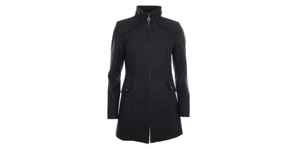 Dámský antracitový kabát na zip Halifax