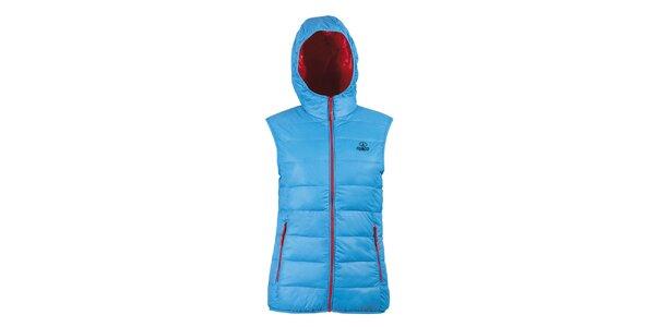 Dámská tyrkysová péřová vesta Furco