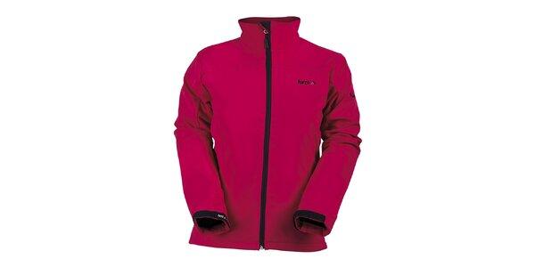 Dámská červená softshellová bunda s límcem Furco