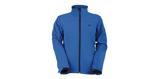 Dámská modrá softshellová bunda s límcem Furco