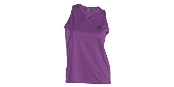 Dámské fialové funkční tričko bez rukávů Furco