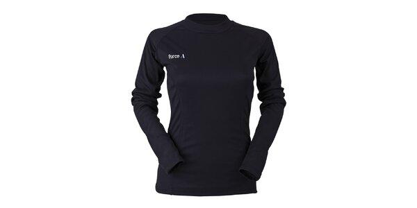 Dámské černé funkční tričko s dlouhým rukávem Furco