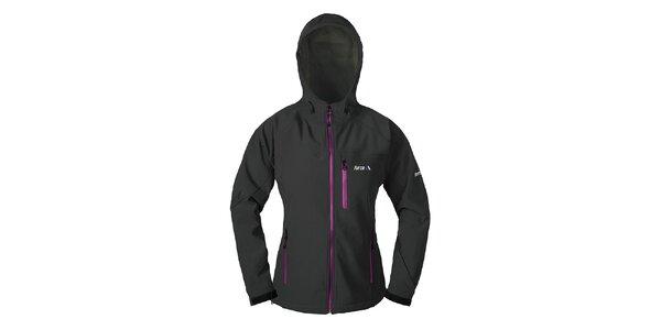 Dámská černá softshellová bunda s kapucí Furco