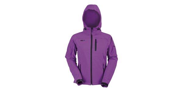 Dámská fialová softshellová bunda s kapucí Furco