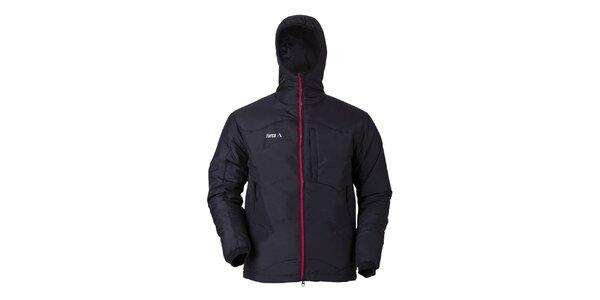Pánská černá bunda s kapucí Furco