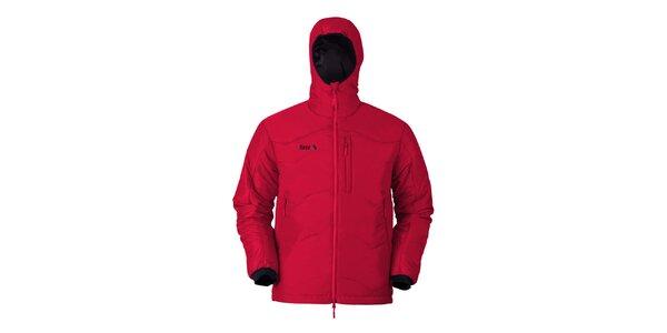 Pánská červená bunda s kapucí Furco