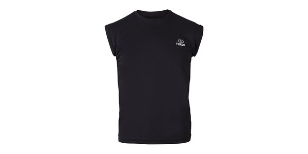 Pánské černé tričko bez rukávů Furco