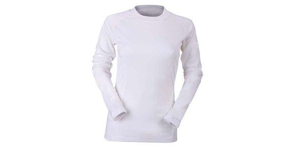 Dámské bílé funkční tričko s dlouhým rukávem Furco