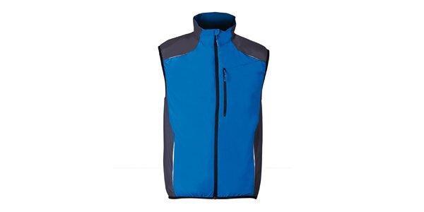 Modrá běžecká vesta s šedými prvky Furco
