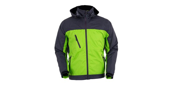 Pánská šedo-zelená funkční bunda Furco
