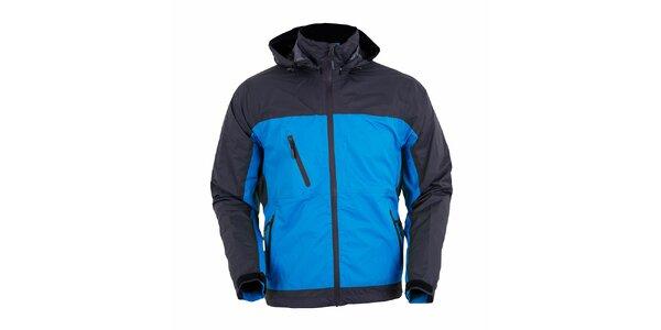 Pánská šedo-modrá funkční bunda Furco