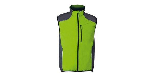 Zelená běžecká vesta s šedými prvky Furco