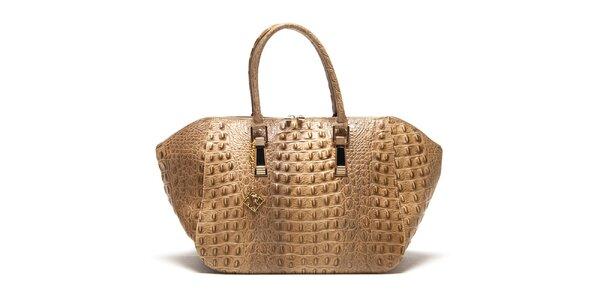 Dámská tmavě béžová kabelka s plastickým vzorem Isabella Rhea