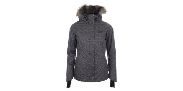 Dámská vzorovaná zimní bunda s kožíškem Fundango