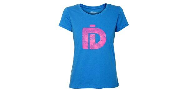 Dámské světle modré tričko Fundango s růžovým logem